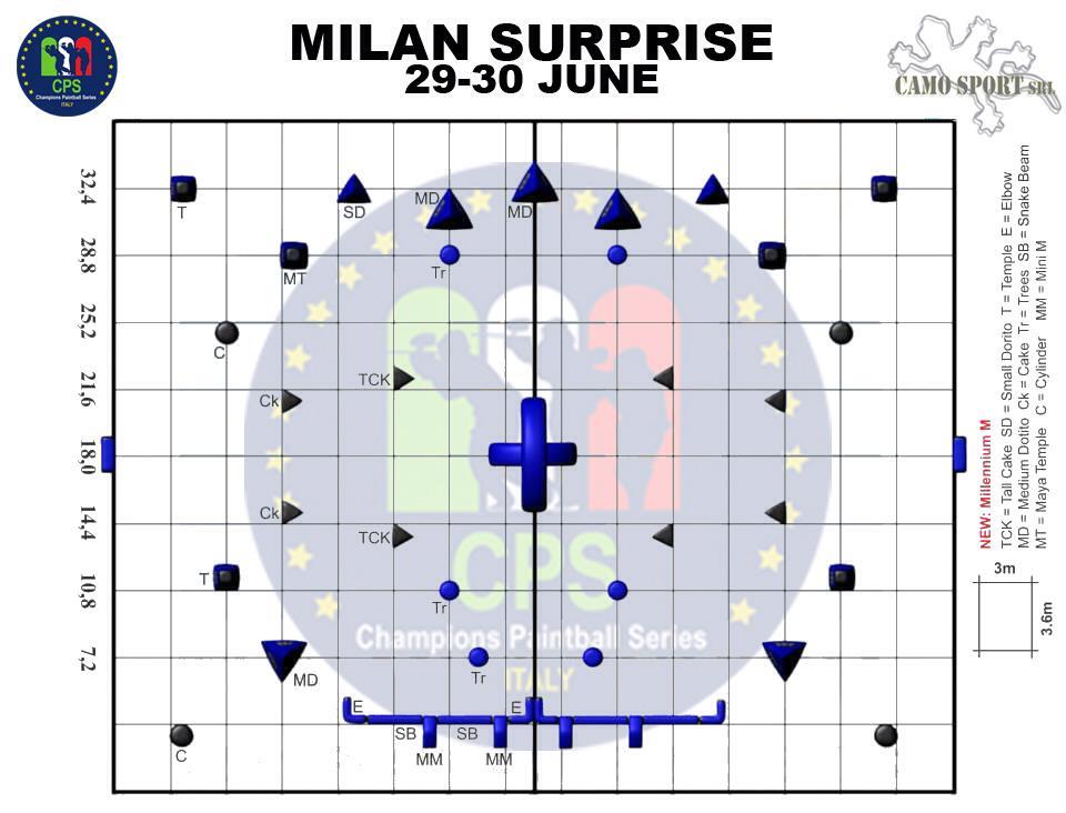 CPS Милан - Схема поля!